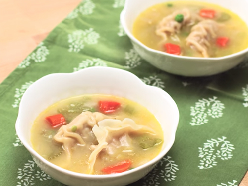Kung Pao Chicken & Dumpling Soup